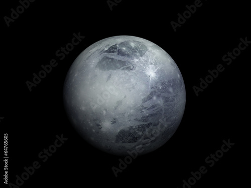Платно 3D-rendering of the planet Pluto, high resolution