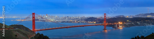 fototapeta na ścianę Golden Gate Bridge i centrum San Francisco
