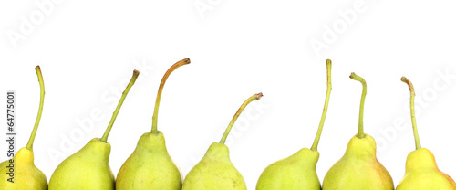 ripe pears isolated on white.