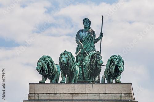 Poster Artistiek mon. Siegestor, the triumphal arch in Munich, Germany
