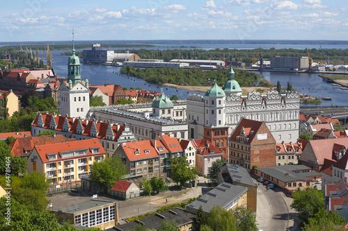 Obraz Szczecin - Panorama miasta - fototapety do salonu