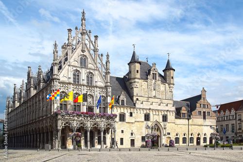 Deurstickers Brugge Stadhuis, Mechelen Town Hall.