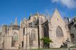 Arrière de la cathédrale de saint Pol de Léon en Bretagne