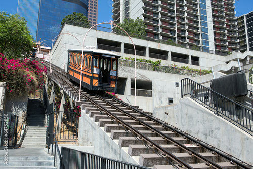 Poster Los Angeles Angels Flight in Los Angeles downtown