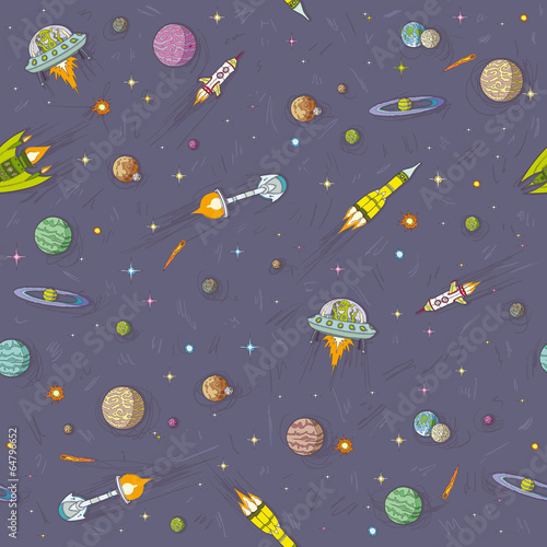 Space seamless Wallpaper Mural