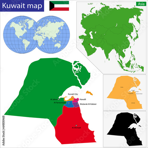 Kuwait map - Buy this stock vector and explore similar vectors at