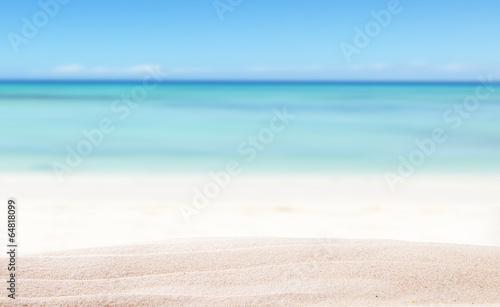 Deurstickers Strand Summer beach background
