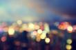 Leinwanddruck Bild - blured lighhts from peak Victoria, Hong Kong