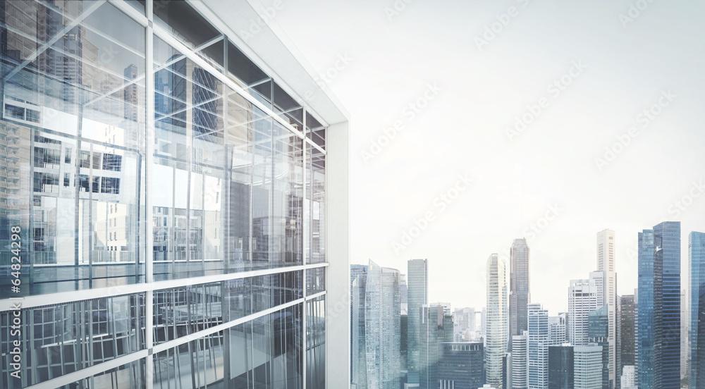 Fototapeta office building exterior