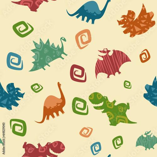 Materiał do szycia Dziecko Dino wzór