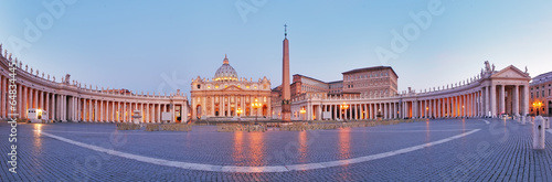 Panoramic view of Vatican city, Rome. Canvas Print