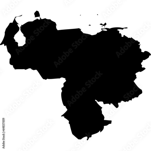 Obraz na plátne High detailed vector map - Venezuela.