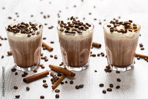 Coffee cocktail with cream foam