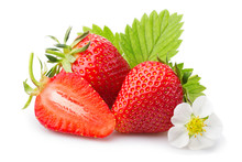 Strawberries With Leaves And B...