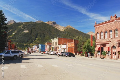 Fotografie, Obraz  Road through the mountain town of Silverton in Colorado