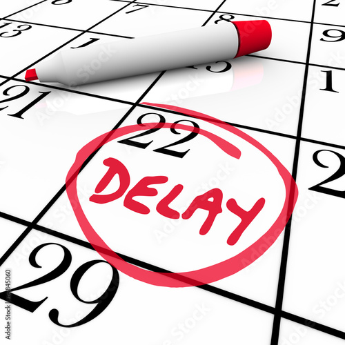 Delay Calendar Schedule Missed Date Appointment Meeting Pushed B Wallpaper Mural
