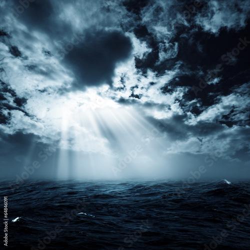 Staande foto Zee / Oceaan New hope in the stormy ocean, abstract environmental backgrounds