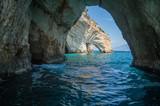 Fototapeta Przestrzenne - Blue caves, Zakinthos, Greece