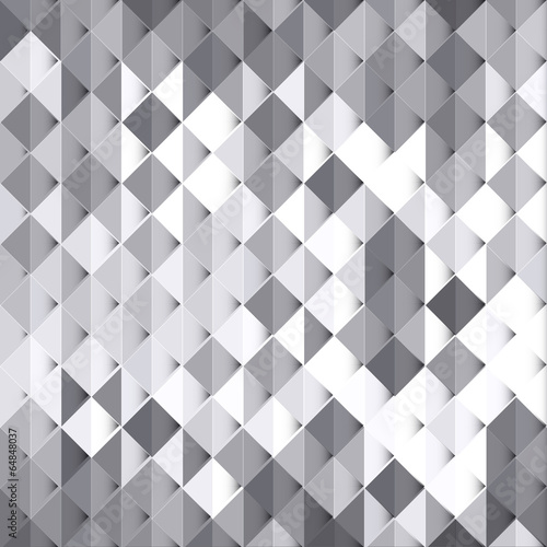 Geometric style abstract white & grey background