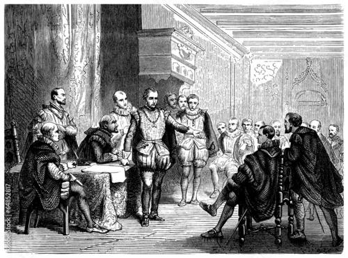 Aristocrats : Debate - 16th century Canvas Print