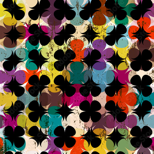 Foto op Aluminium Schepselen abstract geometric pattern background, retro/vintage style, grun