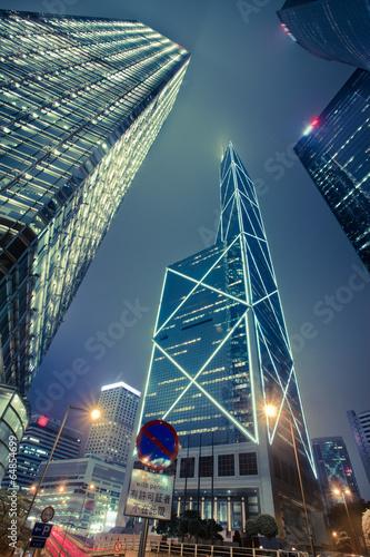Modern building Landscape in Hong Kong Canvas-taulu