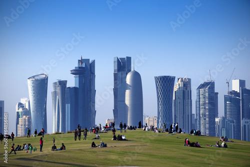 Fotografia, Obraz  Park  in Central Doha, Qatar