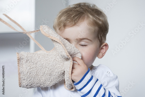 enfant et doudou Tablou Canvas