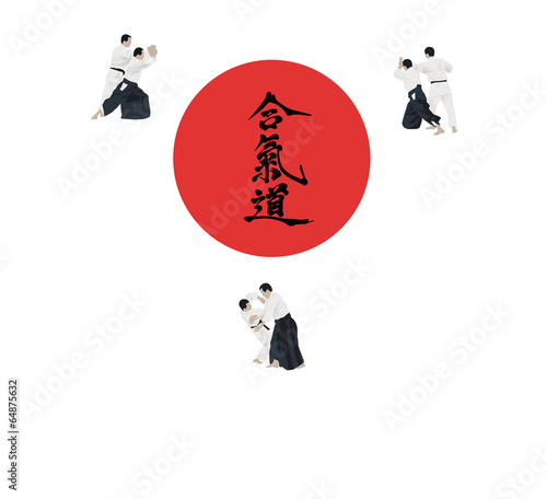 Fotografie, Obraz  Illustration with the aikido image