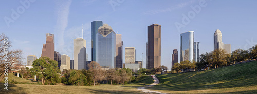In de dag Texas A Panorama View of Downtown Houston, Texas