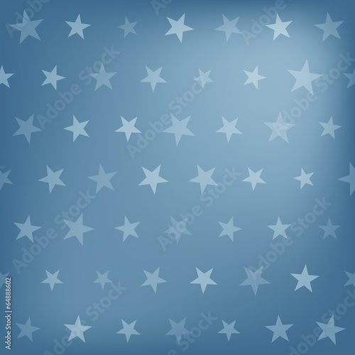 Wall mural - Blue stars pattern