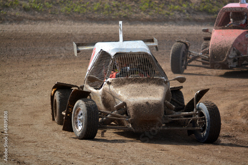 Photo  buggy en carrera