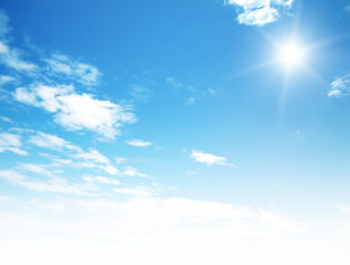Fototapeta blue sky background with tiny clouds