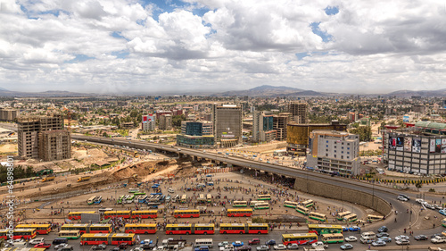 Foto op Plexiglas Afrika View of Addis Ababa