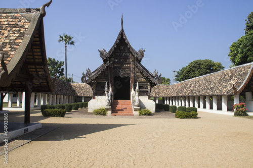 In de dag Bedehuis northern Thai art temple