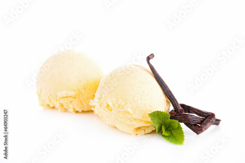 Fotografía  vanilla ice cream