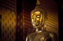 Buddha Statue In Ayutthaya, Thailand.