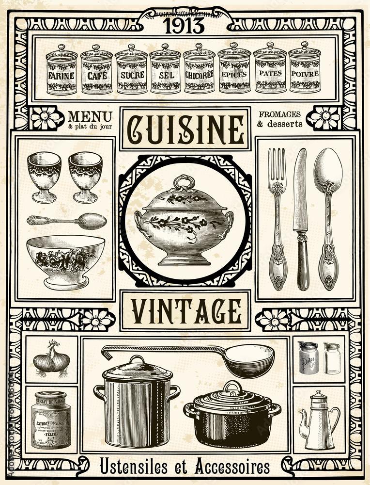 Fotografie, Obraz  Cuisine Vintage