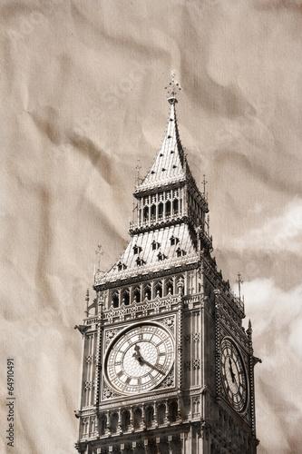rocznika-widok-londyn-big-ben