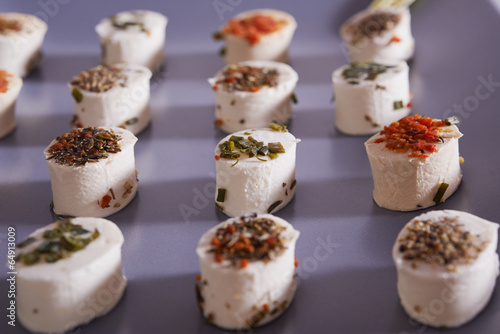Poster cheese appetizer