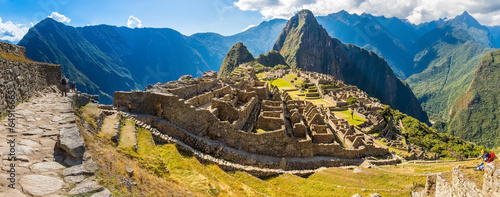 Photo Stands South America Country Panorama of Mysterious city - Machu Picchu, Peru,South America