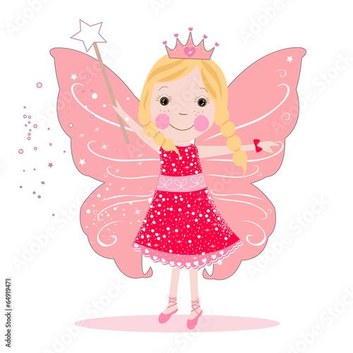 Fotografie, Tablou  Cute fairy