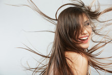 Woman Hair Style Fashion Portrait . Isolated. Close Up Female Mo