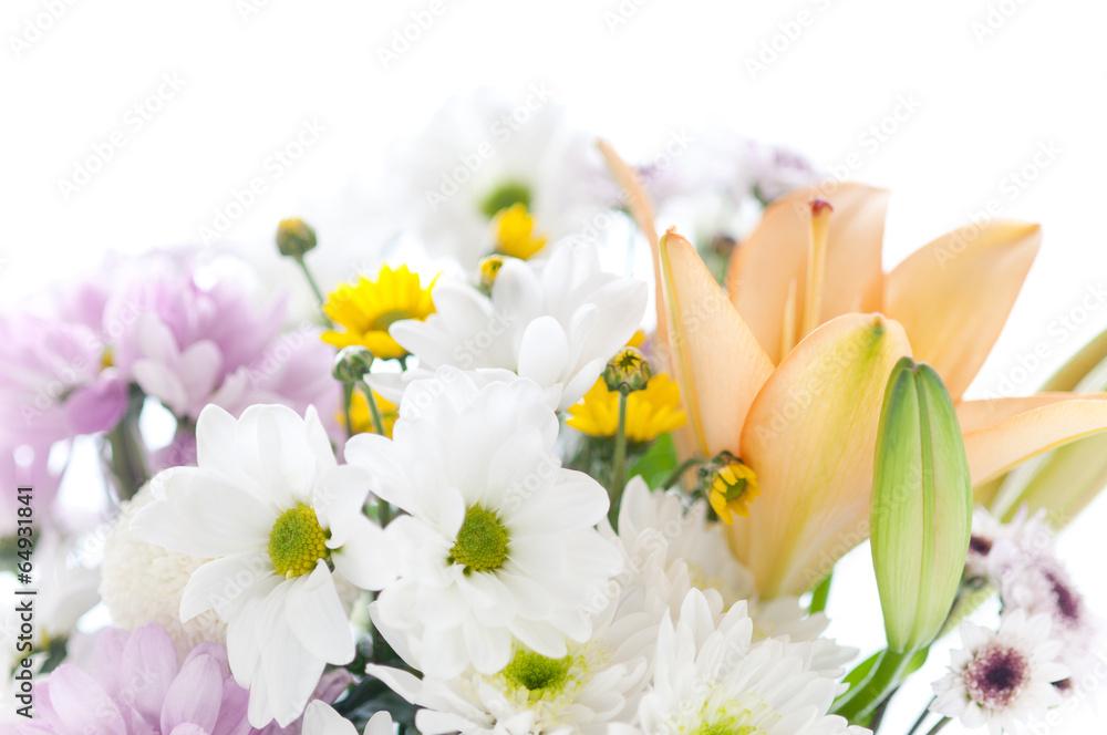 Fototapety, obrazy: Bukiet róznych kwiatów