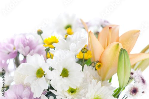 Obraz Bukiet róznych kwiatów - fototapety do salonu