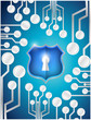 circuit board security shield illustration