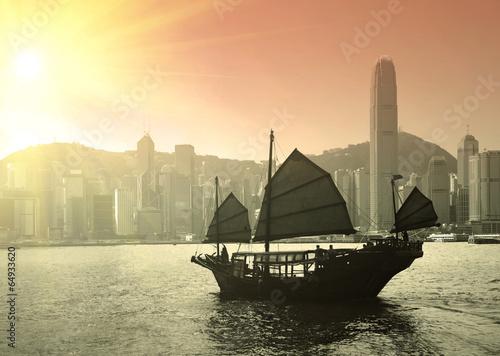 Foto op Canvas Hong-Kong Sailing Victoria Harbor in Hong Kong