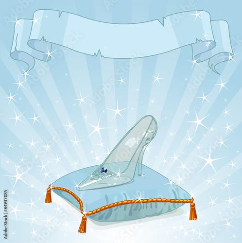Poster Magie Crystal slipper background