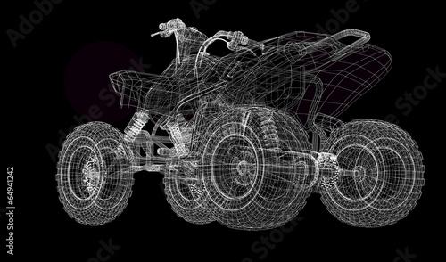Quad bike, motorcycle, 3D model