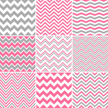 Pink & Grey Seamless Chevron Patterns